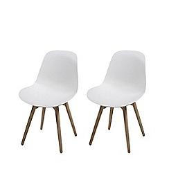 Debenhams - Pair of white 'Sammi' chairs