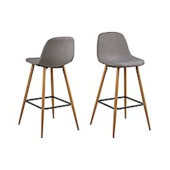 Debenhams - Light grey 'Wren' bar stool