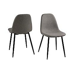 Debenhams - Set of 4 light grey 'Wren' dining chairs
