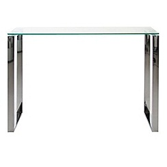Debenhams - Chrome and glass 'Alberta' console table