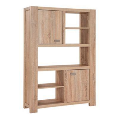 Debenhams Washed White Oak Effect Cleves Bookcase