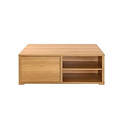 Debenhams - Oak effect 'Benjamin' storage coffee table