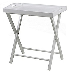 Debenhams - White 'Vinny' tray table