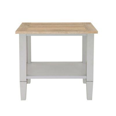 Debenhams Oak Effect And Grey Rustic Side Table