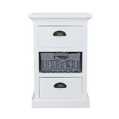 Debenhams - White and grey wicker 'Sandringham' 3 drawer chest