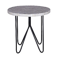Debenhams - Bone inlay 'Zig Zag' side table