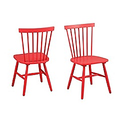 Debenhams - Pair of red 'Rhone' chairs