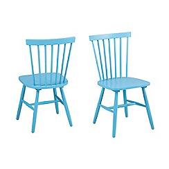 Debenhams - Pair of blue 'Rhone' chairs