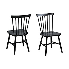 Debenhams - Pair of black 'Rhone' chairs