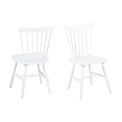 Debenhams - Pair of white 'Rhone' chairs
