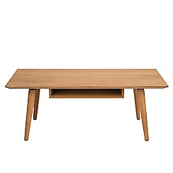 Debenhams - Oak 'Marley' coffee table with shelf