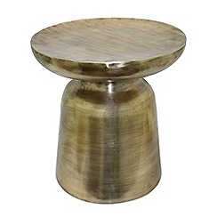RJR.John Rocha - Antique brass 'Anika' side table