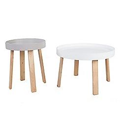 Debenhams - Round 'Noma' tray nest of 2 tables