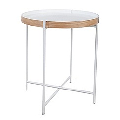 Debenhams - Small 'Fjord' round tray side table