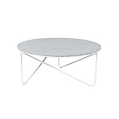 J by Jasper Conran - White marble 'Oskar' large coffee table