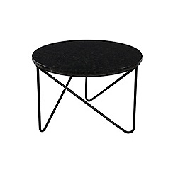 J by Jasper Conran - Black marble 'Oskar' small side table