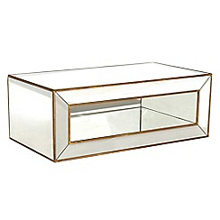 Debenhams - 'Fusion' mirror rectangular coffee table