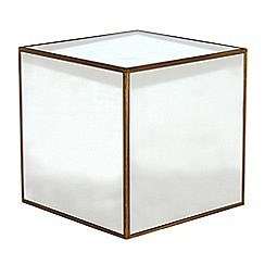 Debenhams - 'Fusion' mirror cube side table