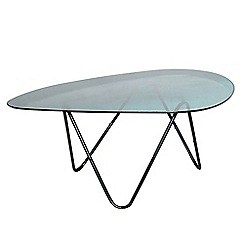 Debenhams - Ombre glass elliptical coffee table