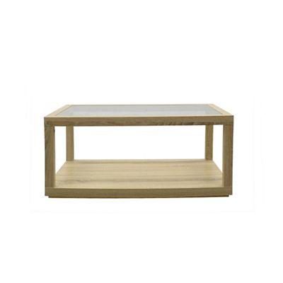 Superbe Debenhams   Oak Effect U0027Clevesu0027 Rectangular Glass Coffee Table