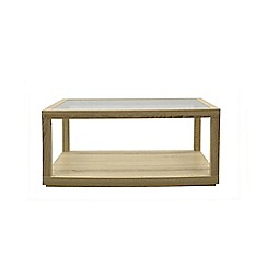 Debenhams - Oak effect 'Cleves' rectangular glass coffee table