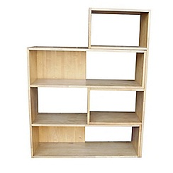 Debenhams - Oak effect 'Fenton' adjustable shelving unit
