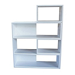 Debenhams - White 'Fenton' adjustable shelving unit