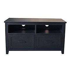 Debenhams - Black 'Fenton' 2 drawer TV table