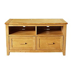 Debenhams - White 'Fenton' 2 drawer TV table