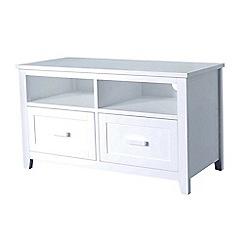 Debenhams - White 'Fenton' 2 drawer TV table