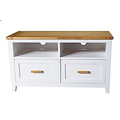 Debenhams - 2 tone 'Fenton' 2 drawer TV table