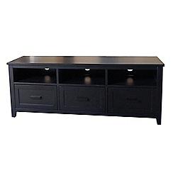 Debenhams - Black 'Fenton' 3 drawer TV table