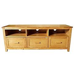 Debenhams - Oak effect 'Fenton' 3 drawer TV table