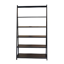 Debenhams - Black 'Fenton' wide shelving unit