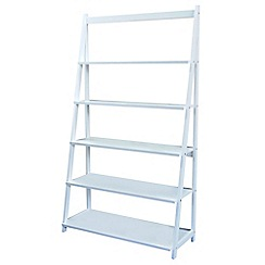 Debenhams - White 'Fenton' wide shelving unit