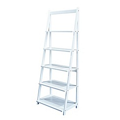Debenhams - White 'Fenton' narrow shelving unit