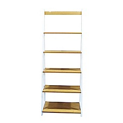 Debenhams - 2 tone 'Fenton' narrow shelving unit