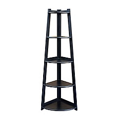 Debenhams - Black 'Fenton' corner shelving unit