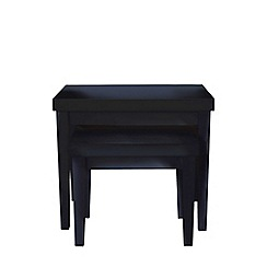 Debenhams - Black 'Fenton' nest of tables