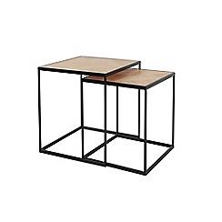 Debenhams - 'Parquet Square' nest of 2 tables
