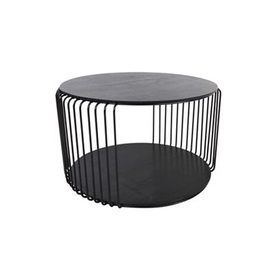 Debenhams Black Wire Cage Oak Round Coffee Table Debenhams