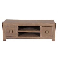 Debenhams - Mango wood 'Jakarta' 2 drawer TV unit