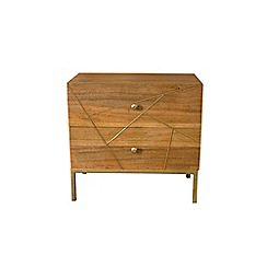 Debenhams - 'Gilt' inlay 2 drawer chest