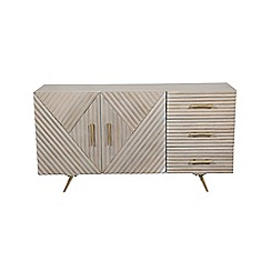 Debenhams - 'Chevron' Off white chevron wide sideboard