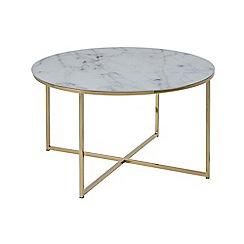 Debenhams - Multi-coloured 'Alisma' round coffee table
