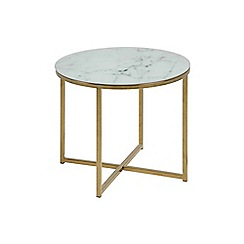 Debenhams - Multi-coloured 'Alisma' round lamp table