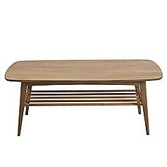 Debenhams - Brown 'Woodstock' rectangle coffee table