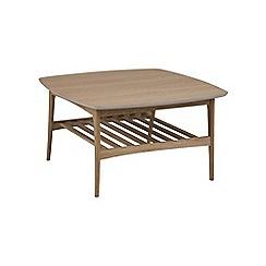 Debenhams - Brown 'Woodstock' square coffee table