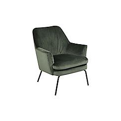 Debenhams - Green velvet 'Chisa' armchair