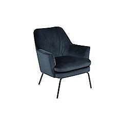 Debenhams - Navy velvet 'Chisa' armchair